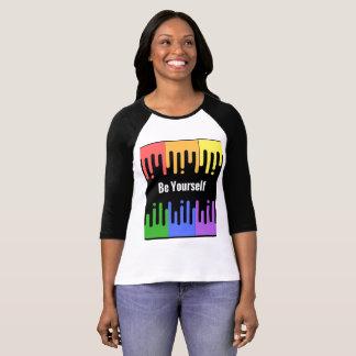 Be Yourself paint drop Raglan Baseball T-shirt