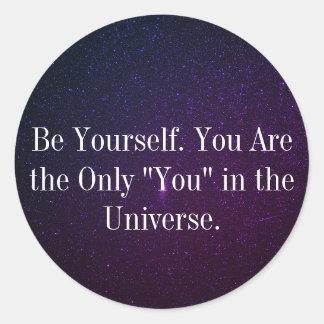 Be Yourself Purple Galaxy/Stars/Universe Sticker