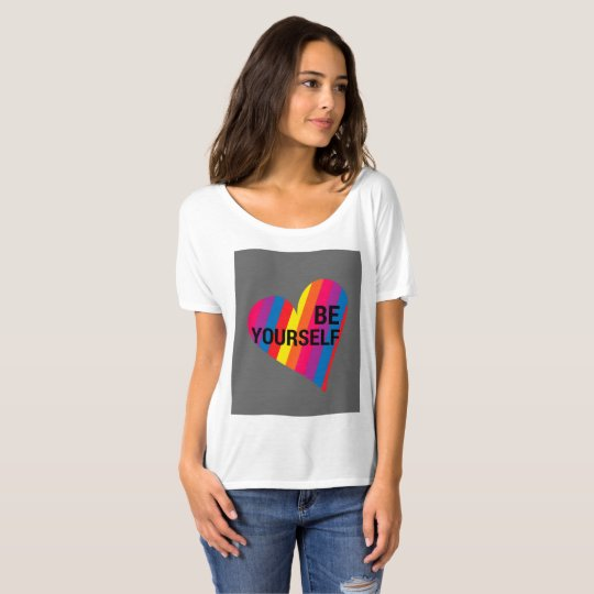 Be Yourself Rainbow Heart Loose fitted T-Shirt