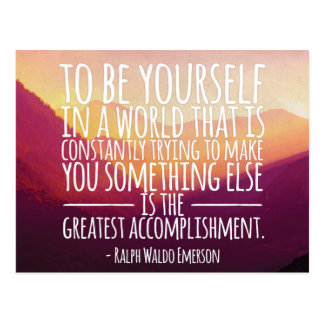 Be Yourself  - The Greatest Accomplishment Postcard