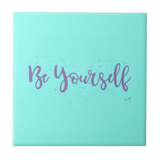 Be-Yourself-Typography-Purple Tile