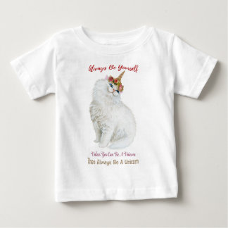 Be Yourself Unicorn Cat Baby T-Shirt