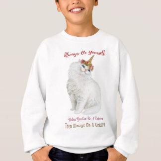 Be Yourself Unicorn Cat Sweatshirt