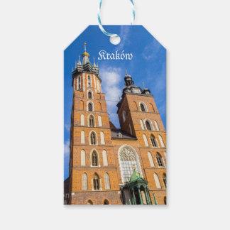 Beaautiful Krakow, Mariacki church, various gifts Gift Tags