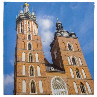 Beaautiful Krakow, Mariacki church, various gifts Napkin