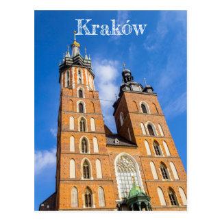 Beaautiful Krakow, Mariacki church, various gifts Postcard