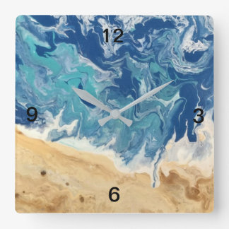 Beach Abstract Art Clock