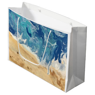 Beach Abstract Gift Bag (large shown)