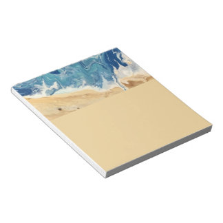 Beach Abstract Note Pad