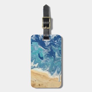 Beach Abstract Personalized Luggage Tag