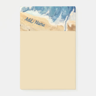 Beach Abstract Personalized Post it Note 4x6