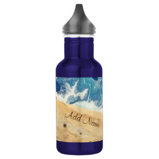 Beach Abstract Personalized Water Bottle