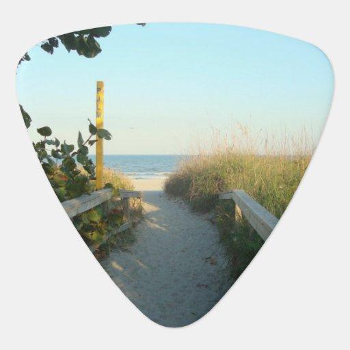 Beach Access Guitar Pick