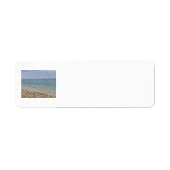 Beach address labels