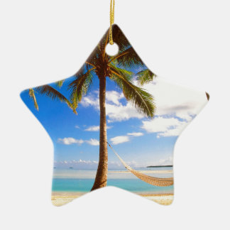 Beach Aitutaki Cook Islands Ceramic Ornament