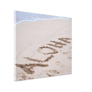 Beach Aloha Canvas Print