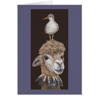 Beach Alpaca card