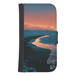 Beach, altered colors samsung s4 wallet case