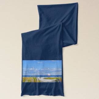 Beach and Ocean View Customizable Scarf