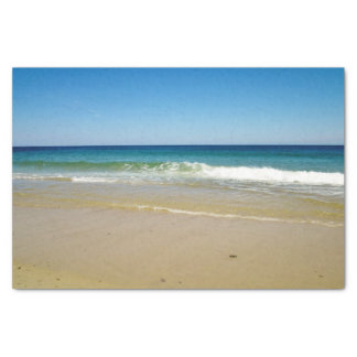 Beach and ocean waves tissue paper