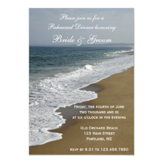 Beach and Ocean Wedding Rehearsal Dinner Invite