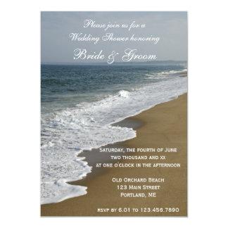 "Beach and Ocean Wedding Shower 5"" X 7"" Invitation Card"