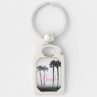 Beach and Palm Trees Keychain
