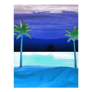 Beach and Palm Trees Letterhead