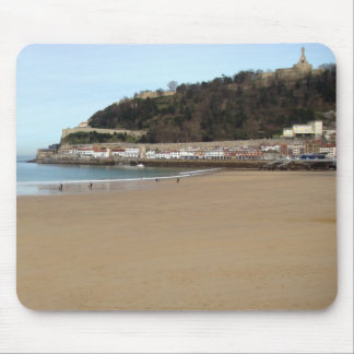 Beach and Port of Donostia - San Sebastián. Mouse Pad
