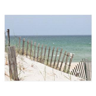 Beach and sand dune photo postcard