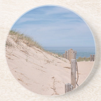 Beach and sand dunes beverage coaster