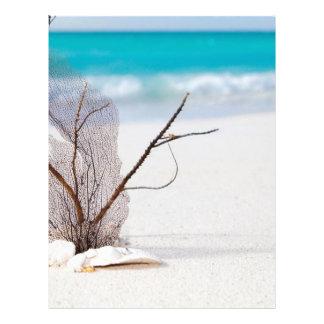 beach-and-sea-concept beach beauty blue caribbean customized letterhead
