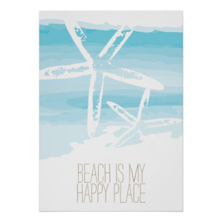 Beach and starfish | Poster