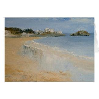 Beach and wet sand card