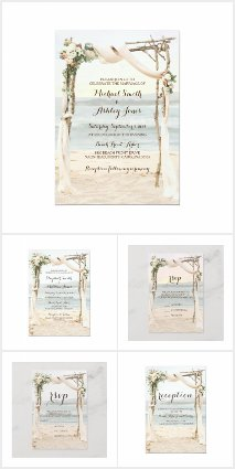 Beach Arbor Wedding Collection