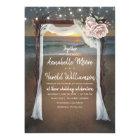 Beach Arch | Sea Sunset | String Lights Wedding Card
