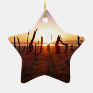 Beach Art Ceramic Star Ornament