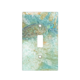 Beach Art with Sea Turtle | Light Switch Cover