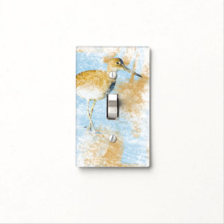 Beach Art with Shorebird | Light Switch Cover