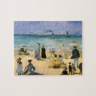Beach at Boulogne by Manet, Vintage Impressionism Jigsaw Puzzle