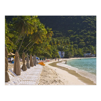 Beach at Cane Garden Bay, Island of Tortola Postcard