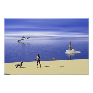 Beach At Day Poster