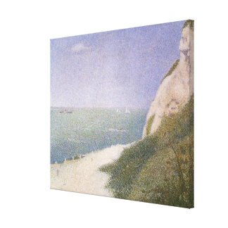 Beach at Honfleur by Georges Seurat, Vintage Art Canvas Print