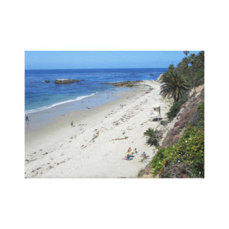 Beach at Laguna Beach - California coast Canvas Print