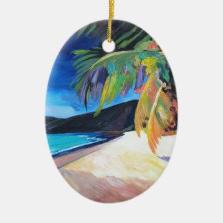 Beach at Magen's Bay St Thomas US Virgin Islands Ceramic Ornament