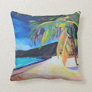 Beach at Magen's Bay St Thomas US Virgin Islands Throw Pillow