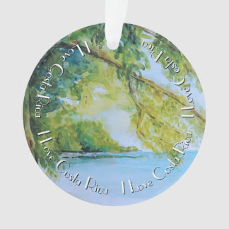 Beach at Manuel Antonio Costa Rica Ornament