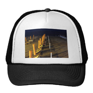 Beach at night trucker hat