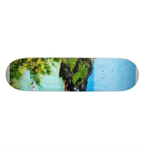 Beach at St. George Bermuda Skate Board Deck