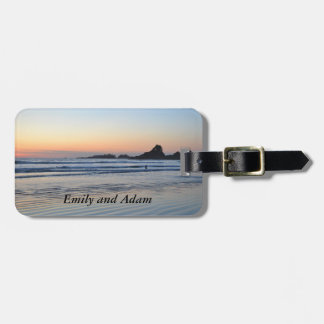 Beach at Sunset Luggage Tag